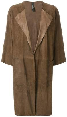 Giorgio Brato long open front coat