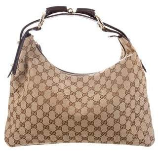 d80d9934fcc Gucci GG Canvas Medium Horsebit Hobo