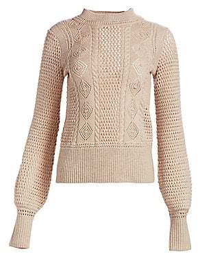 See by Chloe Women's Lacey Wool Knit Sweater