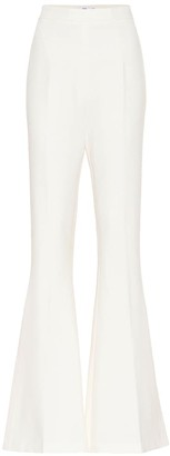 Safiyaa Hallie crepe high-rise flared pants