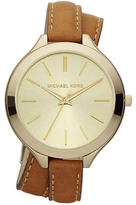 df9ce0194e67 Michael Kors Leather Watch Brown - ShopStyle UK