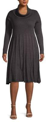 Calvin Klein Plus Cowlneck Sweater Dress