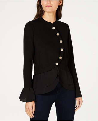INC International Concepts I.N.C. Tiered Sweater Jacket, Created for Macy's