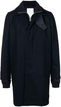 Sacai single-breasted coat