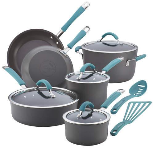 Rachael Ray Cucina 12 Piece Non-Stick Cookware Set
