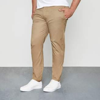 River Island Big and Tall tan slim fit chinos