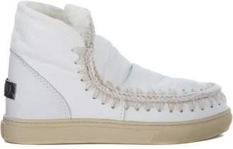 Mou Mini Eskimo White Sheepskin Ankle Boots