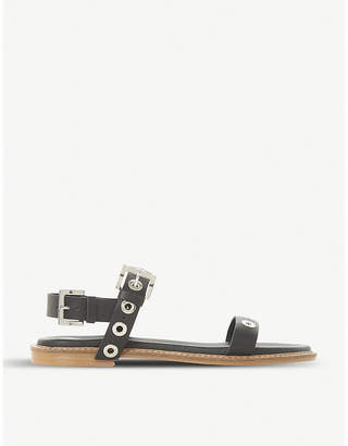 Dune Loope studded leather sandals