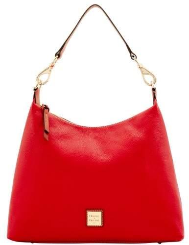 Dooney & Bourke Pebble Grain Juliette Hobo Shoulder Bag - RED - STYLE