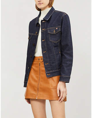 Free People High-waist faux-leather mini skirt