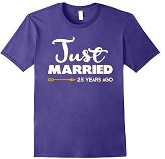 Mens Wedding Anniversary Gift Just Married 25 Years Ago T-Shirt 3XL