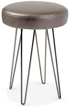 Le-Coterie Le Coterie Hairpin Counter Stool - Pewter/Mushroom Leather