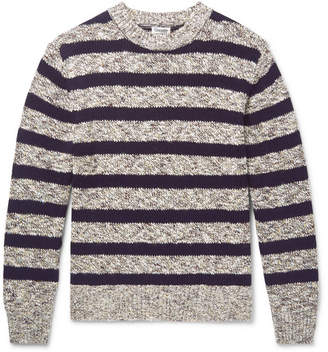 Camoshita Striped Cotton-Blend Sweater