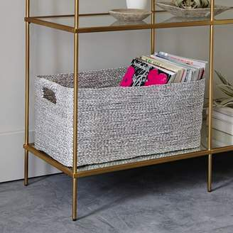 west elm Metallic Woven Console Basket