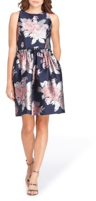 Women's Tahari Jacquard Fit & Flare Dress $138 thestylecure.com