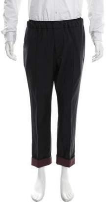 Valentino Flat Front Wool Pants