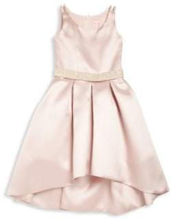 Zoe Toddler's, Little Girl's& Girl's Embellished Pleated Hi-Lo Dress