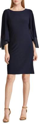 Lauren Ralph Lauren Tiered Sleeve Jersey Dress