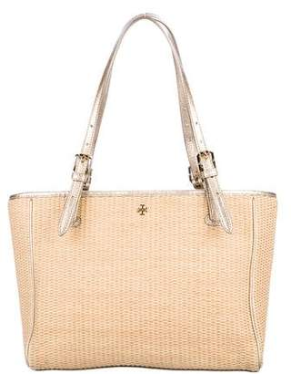 bdb820411ade Pre-Owned at TheRealReal · Tory Burch York Straw Buckle Tote