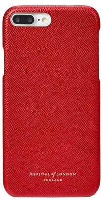 Aspinal of London Iphone 7 Plus Leather Cover In Scarlet Saffiano