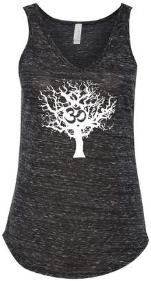 Yoga Clothing For You Ladies WHITE TREE Flowy Tank Top, Large