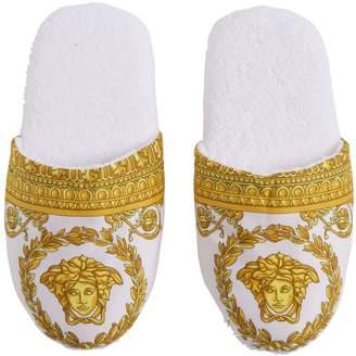 Versace Barocco & Robe Printed Slippers