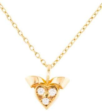 Christian Dior 18K Diamond Heart Pendant Necklace