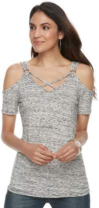 Rock & Republic Women's Strappy Cold-Shoulder Top