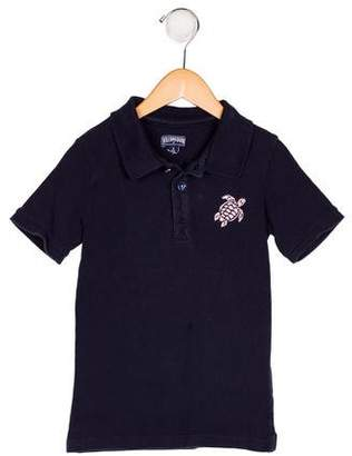 Vilebrequin Kids Boys' Embroidered Collared Shirt
