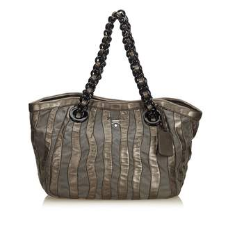 Prada Grey Synthetic Handbag