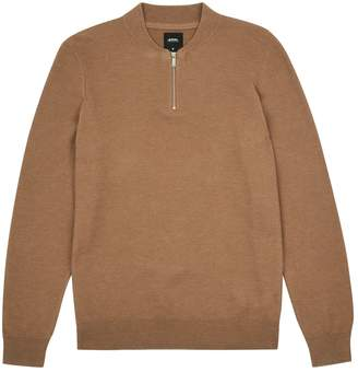 Burton Mens Baseball Zip Honey Jumper
