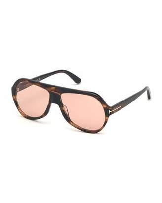 Tom Ford Men's Runway Patterned Aviator Sunglasses