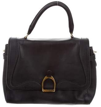 Ralph Lauren Leather Top Handle Satchel