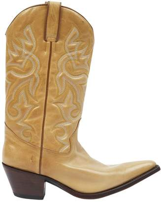 Non Signé / Unsigned Non Signe / Unsigned Yellow Leather Boots