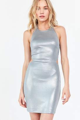 Silence & Noise Silence + Noise Lamé Side Cutout Bodycon Dress