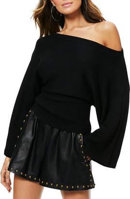 Ramy Brook Robyn Off-Shoulder Wool Sweater