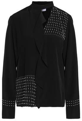 Derek Lam 10 Crosby Embellished Ruffled Silk Blouse