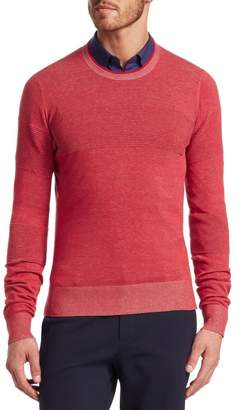 Saks Fifth Avenue MODERN Ribbed Crewneck Cotton Sweater