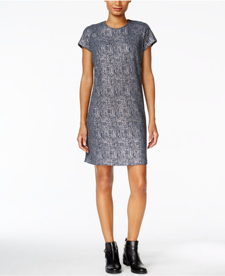 Tommy Hilfiger Metallic-Print Shift Dress $129 thestylecure.com