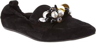 Lanvin Embellished Suede Loafer