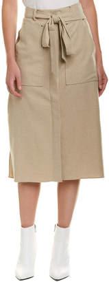 Tibi Wilson Wool-Blend A-Line Skirt
