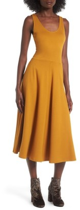 Women's Leith Stretch Knit Midi Dress $69 thestylecure.com