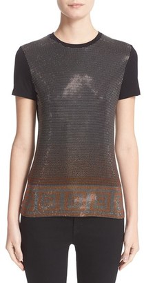 Women's Versace Studded Stretch Jersey Tee $525 thestylecure.com