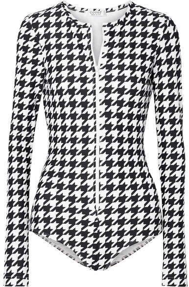Cover - Houndstooth Swimsuit - Black