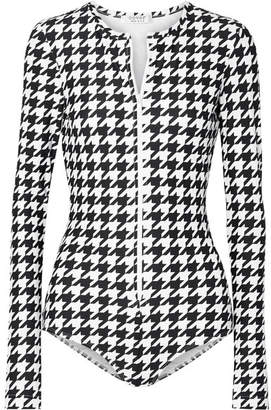 Cover Houndstooth Swimsuit - Black