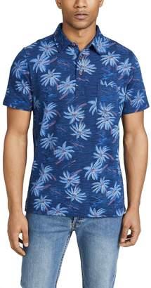 Faherty Short Sleeve Hawaiian Print Polo
