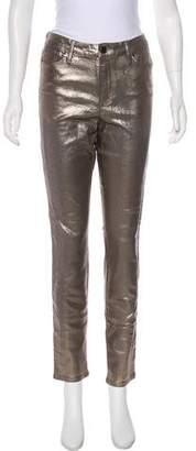 Robert Rodriguez Mid-Rise Metallic Jeans w/ Tags