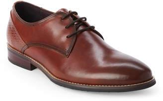 Hart Schaffner Marx Brown Seattle Plain Toe Derby Shoes