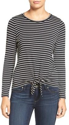 Women's Amour Vert 'Melinda' Stripe Tie Hem Top $68 thestylecure.com