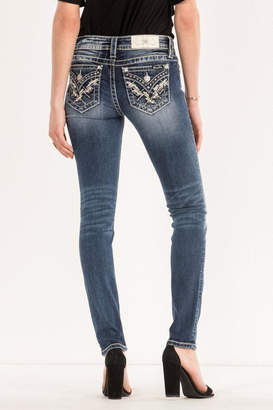Miss Me Embellished Pocket Midrise-Skinny